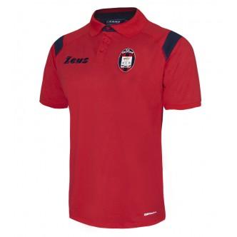 POLO DA PASSEGGIO FC CROTONE CALCIO COLORE ROSSO BLU