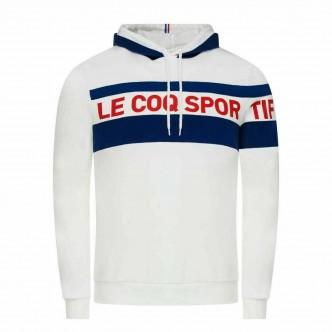 copy of LE COQ SPORTIF - FELPA CON CAPPUCCIO TRICOLORE - BLU - 2021273