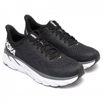 Hoka - Sneakers One One CLIFTON 7 - Nero/Bianco - Donna - 1110509-BWHT