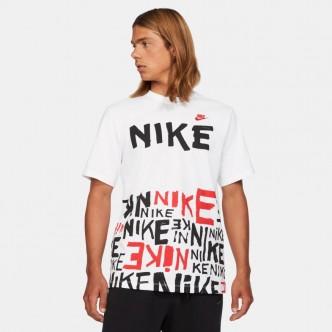 NIKE - T-Shirt Sportswear - Bianco/Nero-Rosso - DA0218-100