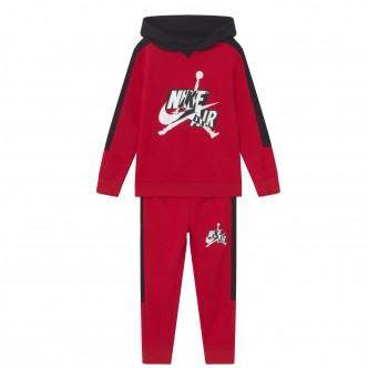 Nike - Jordan Tuta da Bimbi Jumpman Classics III Rossa - 658511-R78