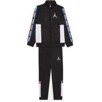 Nike - Jordan Tuta da Ragazzi Jumpman Sideline tricot Nera - 95A102-023