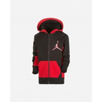 Nike - Jordan Felpa Full Zip da Ragazzo Arc Nero/Rosso - 95A192-023