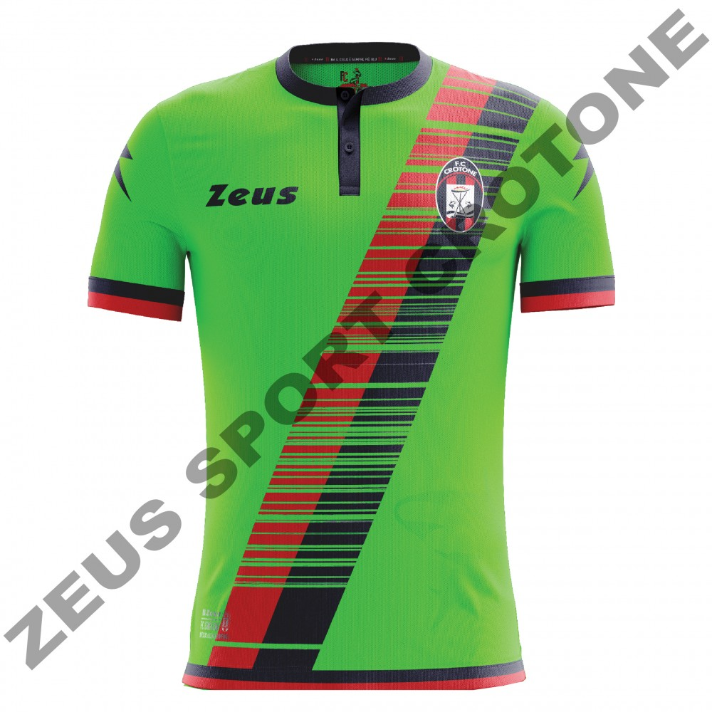 MAGLIA FC CROTONE 2016-2017 VERDE-ROSSO-BLU. ZEUS SPORT