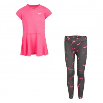Nike - TUNIC TOP AND LEGGINGS - BAMBINA - 36H503-M19