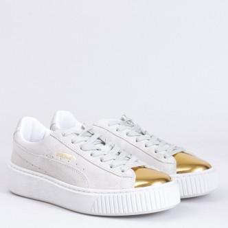 Puma Suede Platform White Gold - 362202-001 scarpe