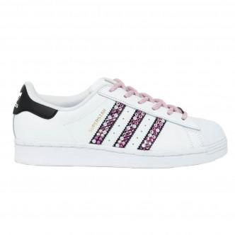 Adidas - Superstar Stripes con cristalli rosa e fucsia – STYLE PINK