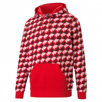 PUMA - AOP Hoodie High Risk Red - 588154-11
