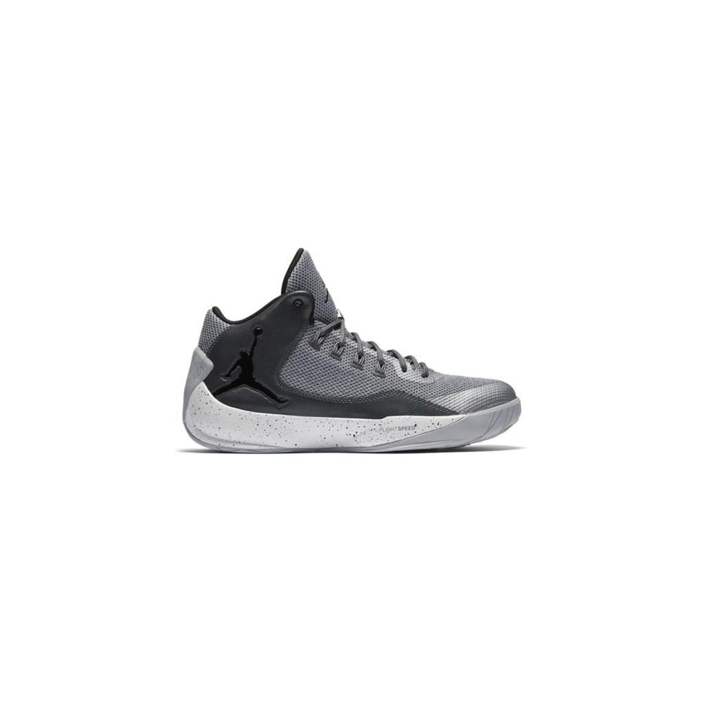 NIKE JORDAN RISING HIGH 2 BASKETBAL 844065-007 scarpe WOLF GREY/BLACK-DARK GREY-WHITE