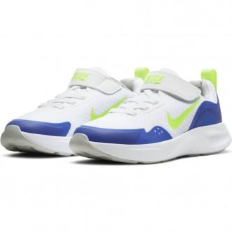 Nike WearAllDay - WHITE/VOLT-GAME ROYAL-GREY FOG - CJ3817-104