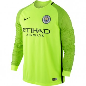 Men's Manchester City FC Stadium Top 776899-703 VOLT/BLACK