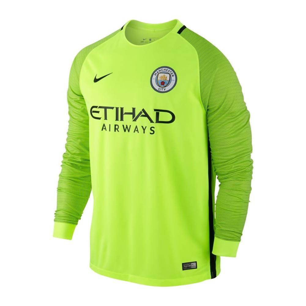 Men's Manchester City FC Stadium Top 776899-703 VOLT/BLACK
