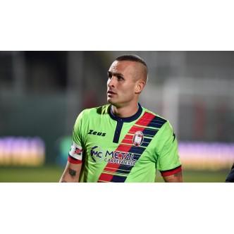 MAGLIA UFFICIALE FC CROTONE VERDE/ROSSO/BLU 2016/2017 CON SPONSOR METAL CARPENTERIA -SENZA PATCH (CORDAZ)(FESTA) NUOVO FONT