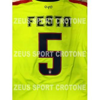 MAGLIA UFFICIALE FC CROTONE GIALLO FLUO/ROSSO/BLU 2016/2017 CON SPONSOR METAL CARPENTERIA - SENZA PATCH (CORDAZ)(FESTA) NUOVO FO