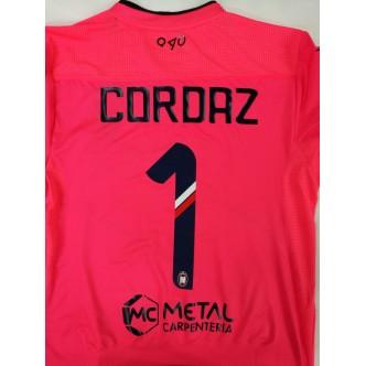 MAGLIA UFFICIALE FC CROTONE PORTIERE RED SOLAR 2017/2018 CON SPONSOR+ PATCH SERIE A (CORDAZ)(FESTA)
