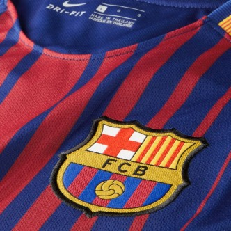 847255 Men's Nike Breathe FC Barcelona Stadium Jersey. DEEP ROYAL BLUE/UNIVERSITY GOLD