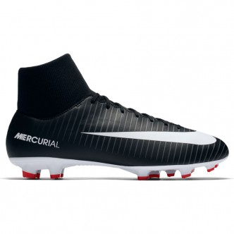 Men's Nike Mercurial Victory VI Dynamic Fit (FG) Firm-Ground Football Boot BLACK/WHITE-DARK GREY-UNIVERSITY RED Scarpe 903609-00