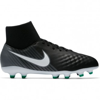 Kids' Nike Jr. Magista Onda II Dynamic Fit (FG) Firm-Ground Football Boot BLACK/WHITE-COOL GREY-STADIUM GREEN Scarpe 917776-002