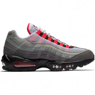 NIKE AIR MAX 95 OG WHITE/SOLAR RED-GRANITE-DUST AT2865-100. scarpe