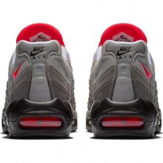 NIKE AIR MAX 95 OG WHITE/SOLAR RED-GRANITE-DUST AT2865-100. scarpe