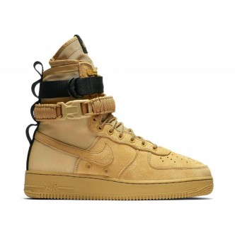 MEN'S NIKE SF AIR FORCE 1 CLUB GOLD/CLUB GOLD-CLUB GOLD-BLACK Scarpe 864024-700