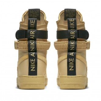 MEN'S NIKE SF AIR FORCE 1 CLUB GOLD/CLUB GOLD-CLUB GOLD-BLACK Scarpe 864024-700